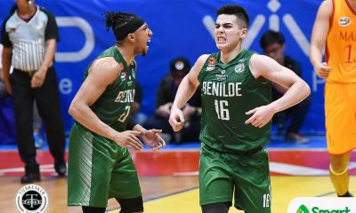Tiebreaker Times Yankie Haruna, Blazers brave through heavy rain before Mapua tilt Basketball CSB NCAA News  Yankie Haruna TY Tang NCAA Season 94 Seniors Basketball NCAA Season 94 Benilde Seniors Basketball
