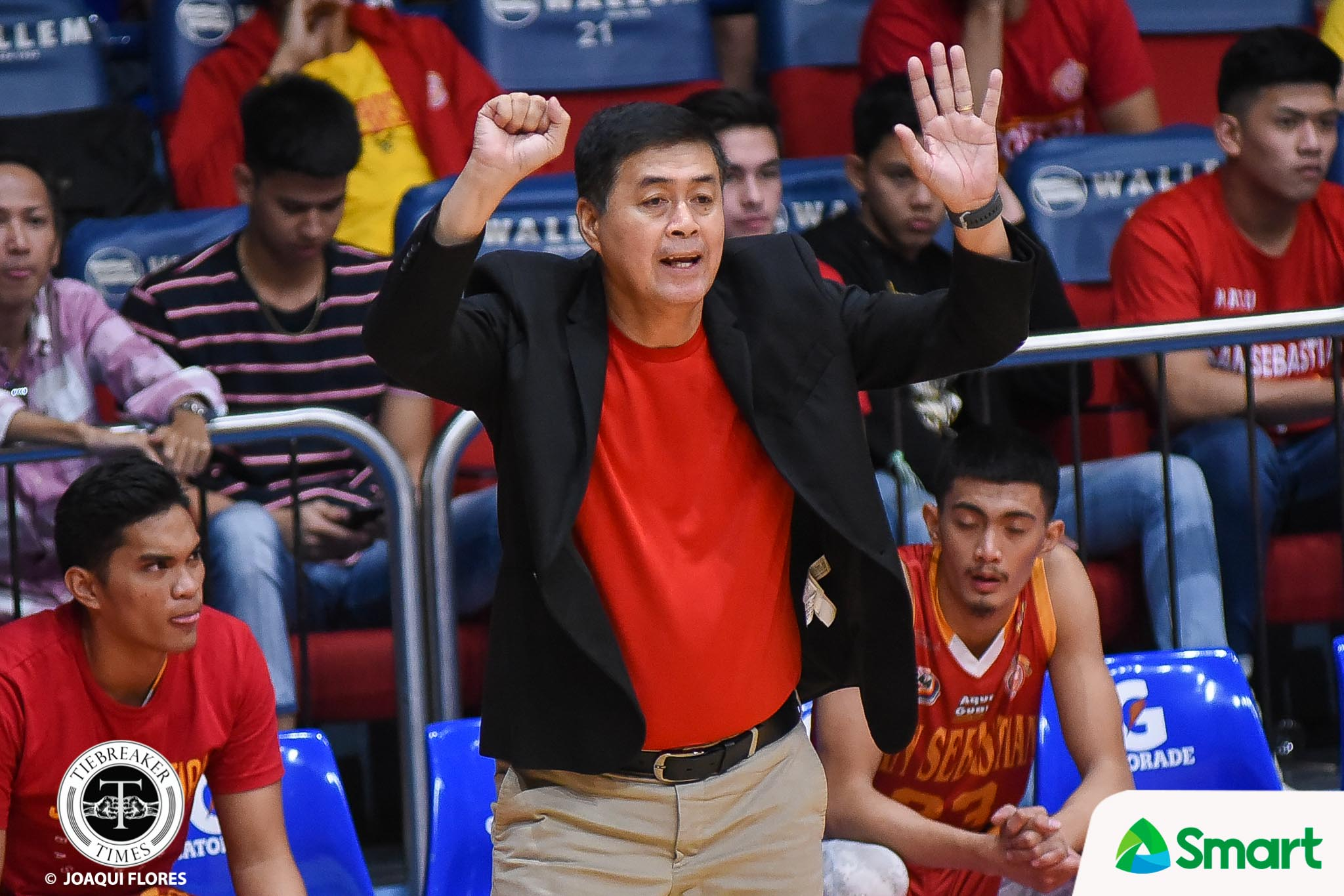 Tiebreaker Times Michael Calisaan embraces leadership role Basketball NCAA News SSC-R  San Sebastian Seniors Basketball NCAA Season 94 Seniors Basketball NCAA Season 94 Michael Calisaan Egay Macaraya