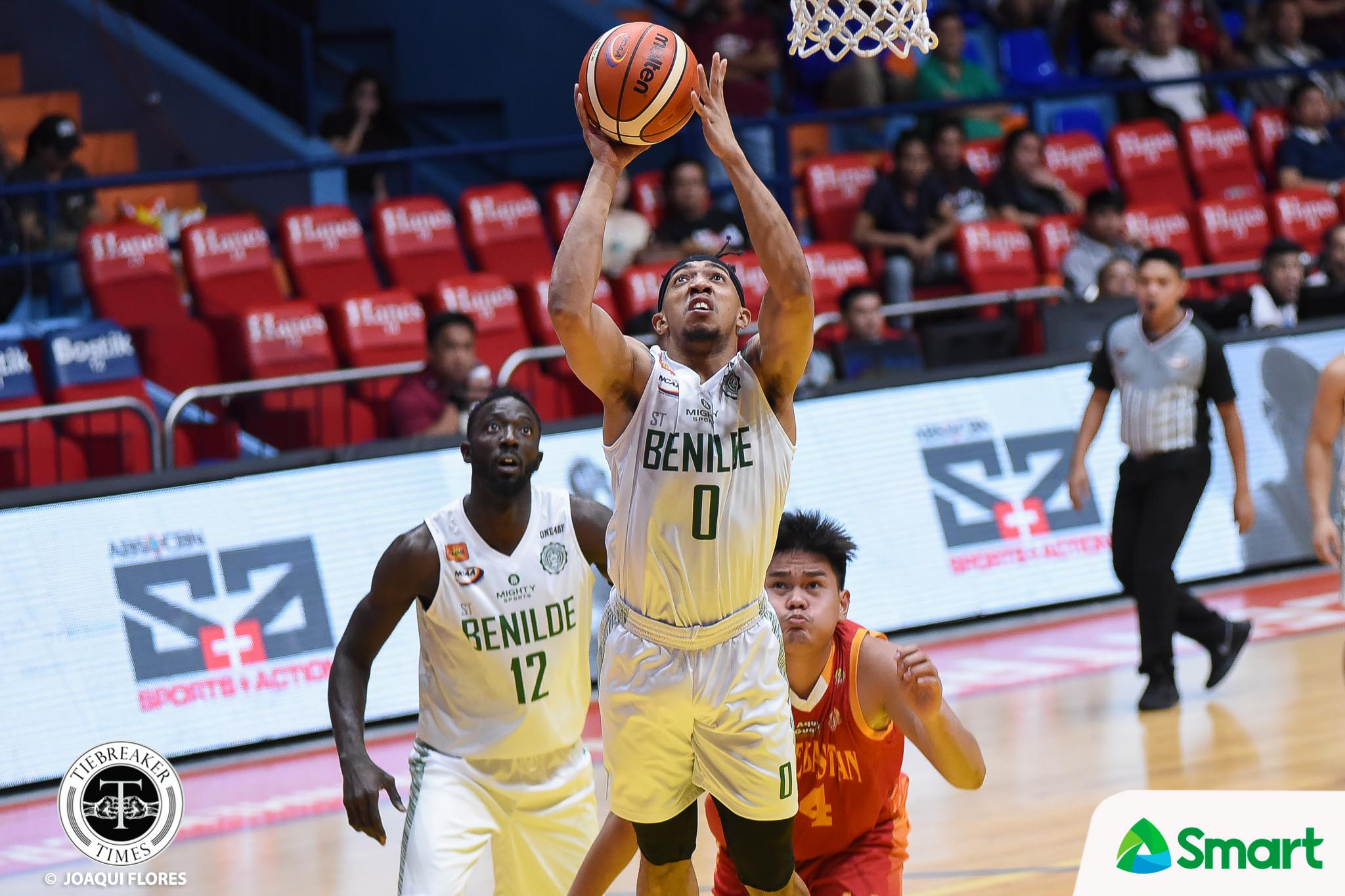 Tiebreaker Times Yankie Haruna, Clement Leutcheu miss first half due to TY Tang's sanction Basketball CSB NCAA News  Yankie Haruna TY Tang NCAA Season 94 Seniors Basketball NCAA Season 94 Clement Leutcheu Benilde Seniors Basketball