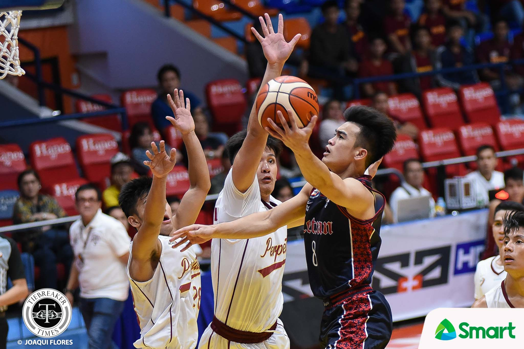 Tiebreaker Times Jeff Napa relays trust on Bong Quinto, JP Calvo despite defeat Basketball CSJL NCAA News  NCAA Season 94 Seniors Basketball NCAA Season 94 Letran Seniors Basketball JP Calvo Jeff Napa Bong Quinto
