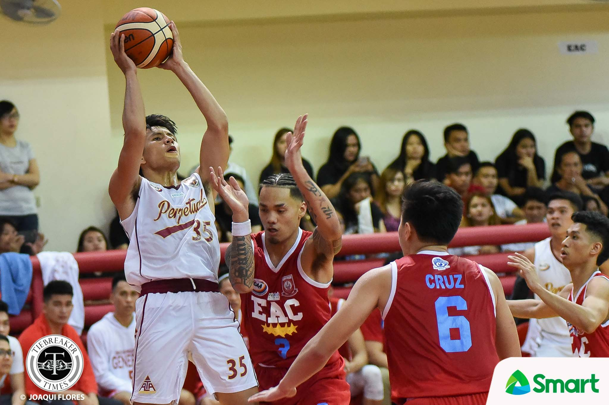 Tiebreaker Times Kim Aurin sets career-high as Perpetual inches closer to Final Four slot EAC NCAA News UPHSD  Prince Eze Perpetual Seniors Basketball NCAA Season 94 Seniors Basketball NCAA Season 94 Kim Aurin JP Magullano Jielo Razon Jethro Mendoza Hamadou Laminou Frankie Lim EAC Seniors Basketball Ariel Sison