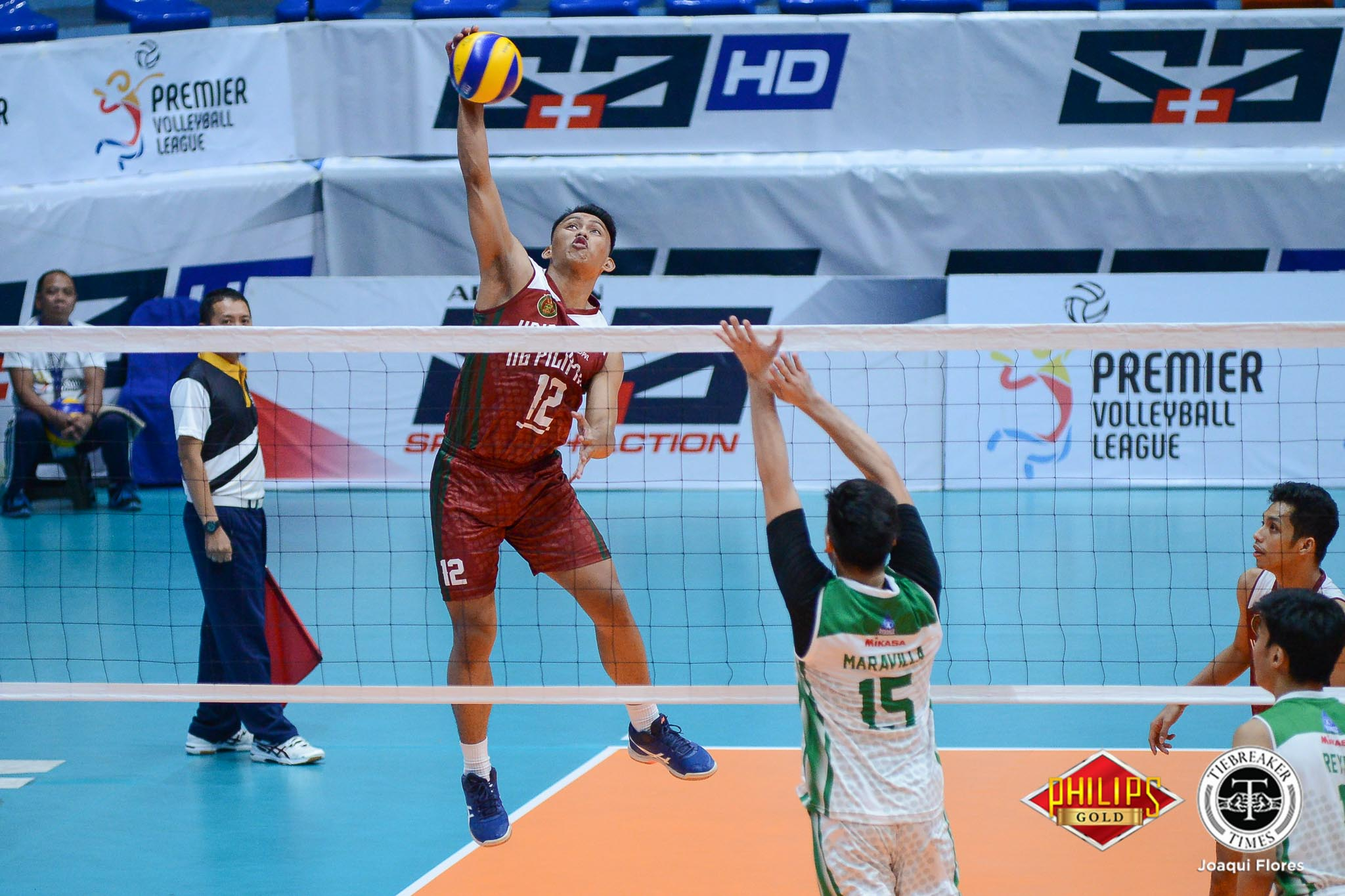 Tiebreaker Times Mac Millete explodes for 31 as UP slips past La Salle DLSU News PVL UP Volleyball  UP Men's Volleyball Norman Miguel Miguel Nasol Mark Millete Joshua Castillo Hans Chuacuco Gian San Pascual DLSU Men's Volleyball Cris Dumago 2018 PVL Season 2018 PVL Men's Collegiate Conference