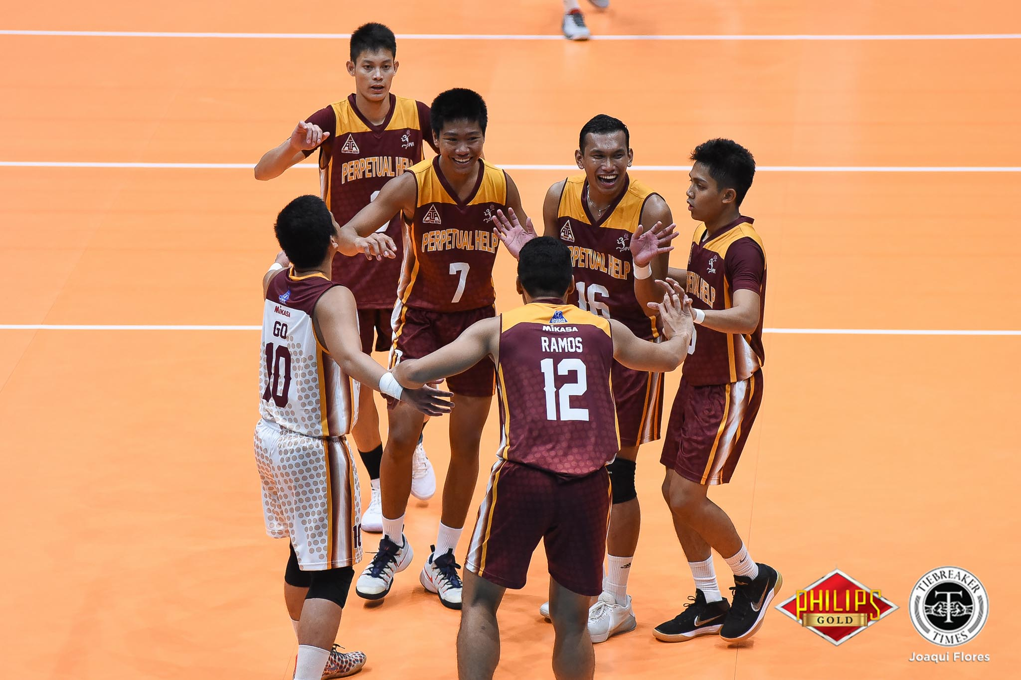 Tiebreaker Times Perpetual outlasts Arellano for second win AU News PVL UPHSD Volleyball  Sherwin Meneses Sammy Acaylar Ryann Go Ridzuan Muhali Perpetual Men's Volleyball Joebert Almodiel EJ Casana Demmy Lapuz Arellano Men's Volleyball 2018 PVL Season 2018 PVL Men's Collegiate Conference