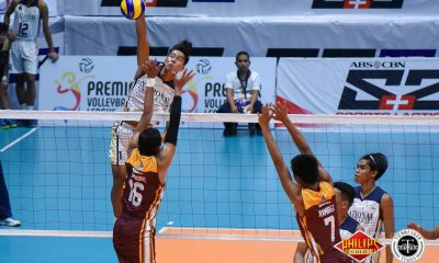 Tiebreaker Times NU triumphs in battle of collegiate champions News NU PVL UPHSD Volleyball  Sammay Acaylar Ricky Marcos Perpetual Men's Volleyball NU Men's Volleyball Kim Dayandante Joebert Almodiel Esmail Kasim Dante Alinsunurin Bryan Bagunas Angelo Almendrez 2018 PVL Season 2018 PVL Men's Collegiate Conference