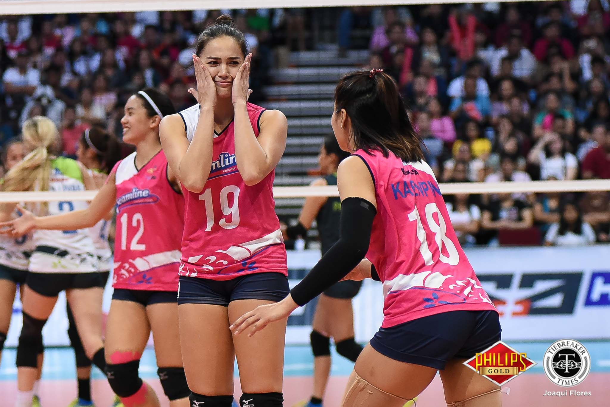 Tiebreaker Times Alyssa Valdez thankful to regain championship feeling with Creamline News PVL Volleyball  Creamline Cool Smashers Alyssa Valdez 2018 PVL Women's Reinforced Conference 2018 PVL Season