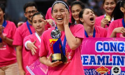 Tiebreaker Times Jia Morado lifts first MVP recognition News PVL Volleyball  Jia Morado Creamline Cool Smashers 2018 PVL Women's Reinforced Conference 2018 PVL Season