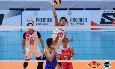 Tiebreaker Times Vice Co. survives Bryan Bagunas' 32, Air Force to forge do-or-die News PVL Volleyball  Vice Co. Blockbusters Rikko Marmeto Rhovyl Verayo Rey Diaz RanRan Abdilla Owen Suarez Jude Garcia JP Bugaoan Fauzi Ismail Bryan Bagunas Air Force Jet Spikers 2018 PVL Season 2018 PVL Men's Reinforced Conference