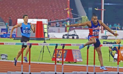 Tiebreaker Times Eric Cray qualifies in 400m hurdles finals News Track & Field  Francis Medina Eric Cray 2018 Asian Games-Boxing 2018 Asian Games