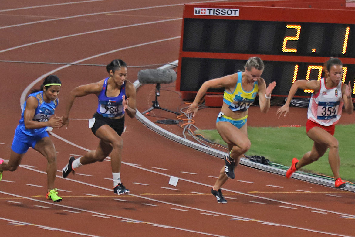 Tiebreaker Times Young Kristina Knott finishes 6th in 200m, ends up as SEA's top bet News Track & Field  Mark Harry Diones Kristina Knott EJ Obiena 2018 Asian Games-Athletics 2018 Asian Games