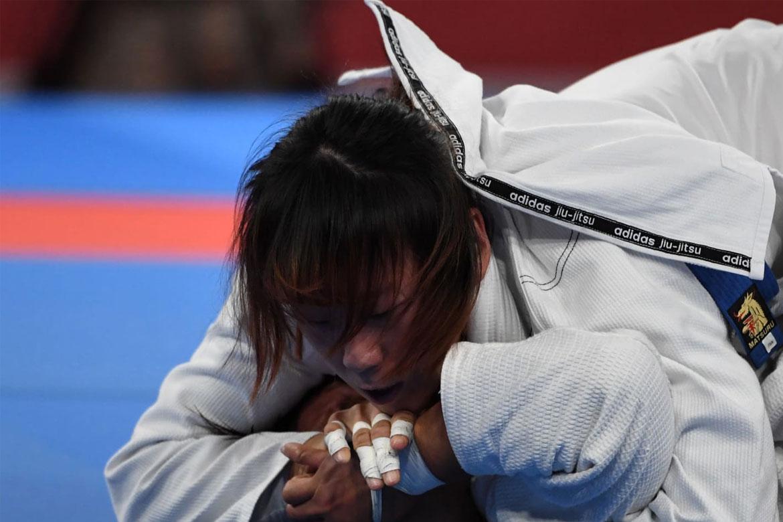 Tiebreaker Times Annie Ramirez overpowered in new weight class Brazilian Jiu Jitsu News  Carlos Pena Apryl Eppinger Annie Ramirez 2018 Asian Games-Jiujitsu