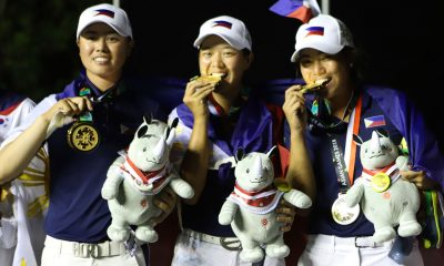 Tiebreaker Times Golf's golden girls donates incentives to keep amateur status Golf News  Yuka Saso Lois Kaye Go Bianca Pagdanganan 2018 Asian Games-Golf 2018 Asian Games