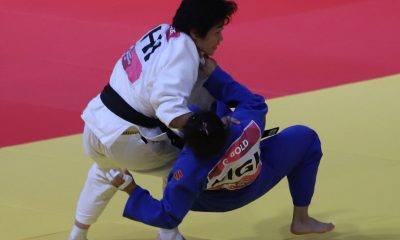 Tiebreaker Times Kiyomi Watanabe advances to gold medal match in women's -63kg Judo News  Shugen Nakano Megumi Kurayoshi Mariya Takahashi Kiyomi Watanabe Keisie Nagano 2018 Asian Games-Judo 2018 Asian Games
