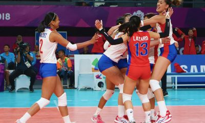 Tiebreaker Times Philippines notches first Asiad win in 36 years News Volleyball  Shaq delos Santos Kim Fajardo Jaja Santiago Hong Kong (Volleyball) Denden Lazaro Alyssa Valdez 2018 Asian Games-Volleyball 2018 Asian Games