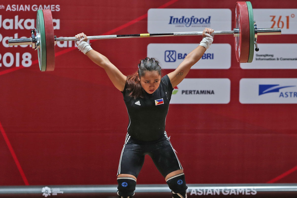 Tiebreaker Times Hidilyn Diaz lifts Philippines to first gold News Weightlifting  Hidilyn Diaz 2018 Asian Games-Weightlifting 2018 Asian Games