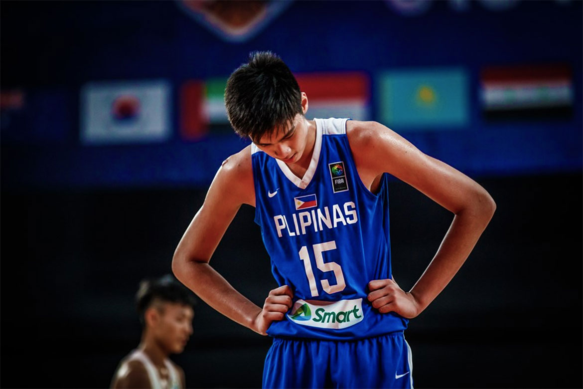 Tiebreaker Times Batang Gilas falls short of podium finish Basketball Gilas Pilipinas News  Kai Sotto Josh Reyes China (Basketball) Batang Gilas AJ Edu 2018 FIBA Under-18 Asian Championship