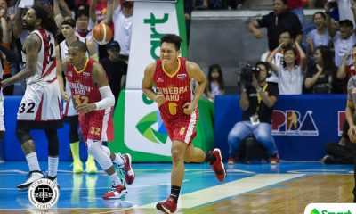 Tiebreaker Times Scottie Thompson takes charge as Ginebra escapes San Miguel in epic Game 5 Basketball News PBA  Tim Cone Scottie Thompson San Miguel Beermen Renaldo Balkman PBA Season 43 Marcio Lassiter Leo Austria LA Tenorio Justin Brownlee June Mar Fajardo Greg Slaughter Barangay Ginebra San Miguel 2018 PBA Commissioners Cup