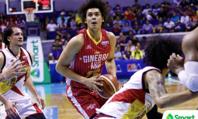 Tiebreaker Times Hurting Japeth Aguilar earns praise for grinding Finals series out Basketball News PBA  Tim Cone PBA Season 43 Japeth Aguilar Greg Slaughter Barangay Ginebra San Miguel 2018 PBA Commissioners Cup