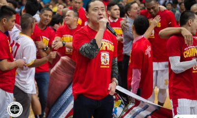 Tiebreaker Times After completing SMC grand slam, Alfrancis Chua to be hailed as exec of the year Basketball News PBA  San Miguel Beermen PBA Season 43 Magnolia Hotshots Barangay Ginebra San Miguel Alfrancis Chua 25th PBA Press Corps Awards Night