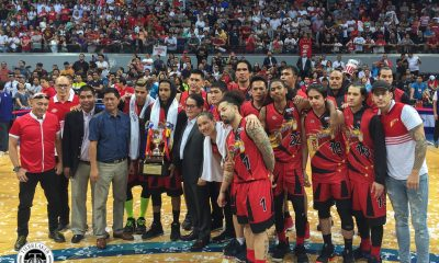 Tiebreaker Times Leo Austria hopes Comm's Cup loss serves as wake-up call: 'Babagyuhin ka, babagsak ka rin' Basketball News PBA  San Miguel Beermen PBA Season 43 Leo Austria 2018 PBA Commissioners Cup