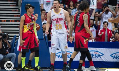 Tiebreaker Times With Greg Slaughter healthy, best has yet to come for Ginebra Basketball News PBA  Tim Cone PBA Season 43 Greg Slaughter Barangay Ginebra San Miguel 2018 PBA Commissioners Cup