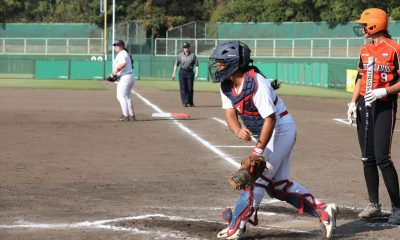 Tiebreaker Times Cheska Altomonte, Blu Girls storm back against Netherlands to even slate News Softball  Sierra Lange RP Blu Girls Riezel Calumbres Cheska Altomonte Chelsea Suitos 2018 Women's Softball World Championship