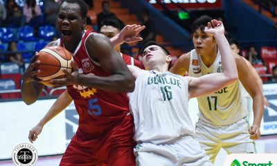 Tiebreaker Times EAC sends Saint Benilde down to fifth in stunner Basketball CSB EAC NCAA News  Yankie Haruna TY Tang NCAA Season 94 Seniors Basketball NCAA Season 94 Justin Gutang JP Magullano Jerome Garcia Hamadou Laminou EAC Seniors Basketball Benilde Seniors Basketball Ariel Sison