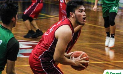 Tiebreaker Times Bong Quinto makes sure Letran escapes St. Benilde on home floor Basketball CSB CSJL NCAA News  Yankie Haruna NCAA Season 94 Seniors Basketball NCAA Season 94 Letran Seniors Basketball Larry Muyang Jeff Napa Clement Leutcheu Christian Fajarito Bong Quinto Benilde Seniors Basketball
