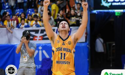 Tiebreaker Times JRU atones for errors, holds off EAC for 2nd win Basketball EAC JRU NCAA News  Vergel Meneses NCAA Season 94 Seniors Basketball NCAA Season 94 Mark Mallari Jun Silvarez JRU Seniors Basketball Jerome Garcia Jed Mendoza Hamadou Laminou EAC Seniors Basketball Ariel Sison