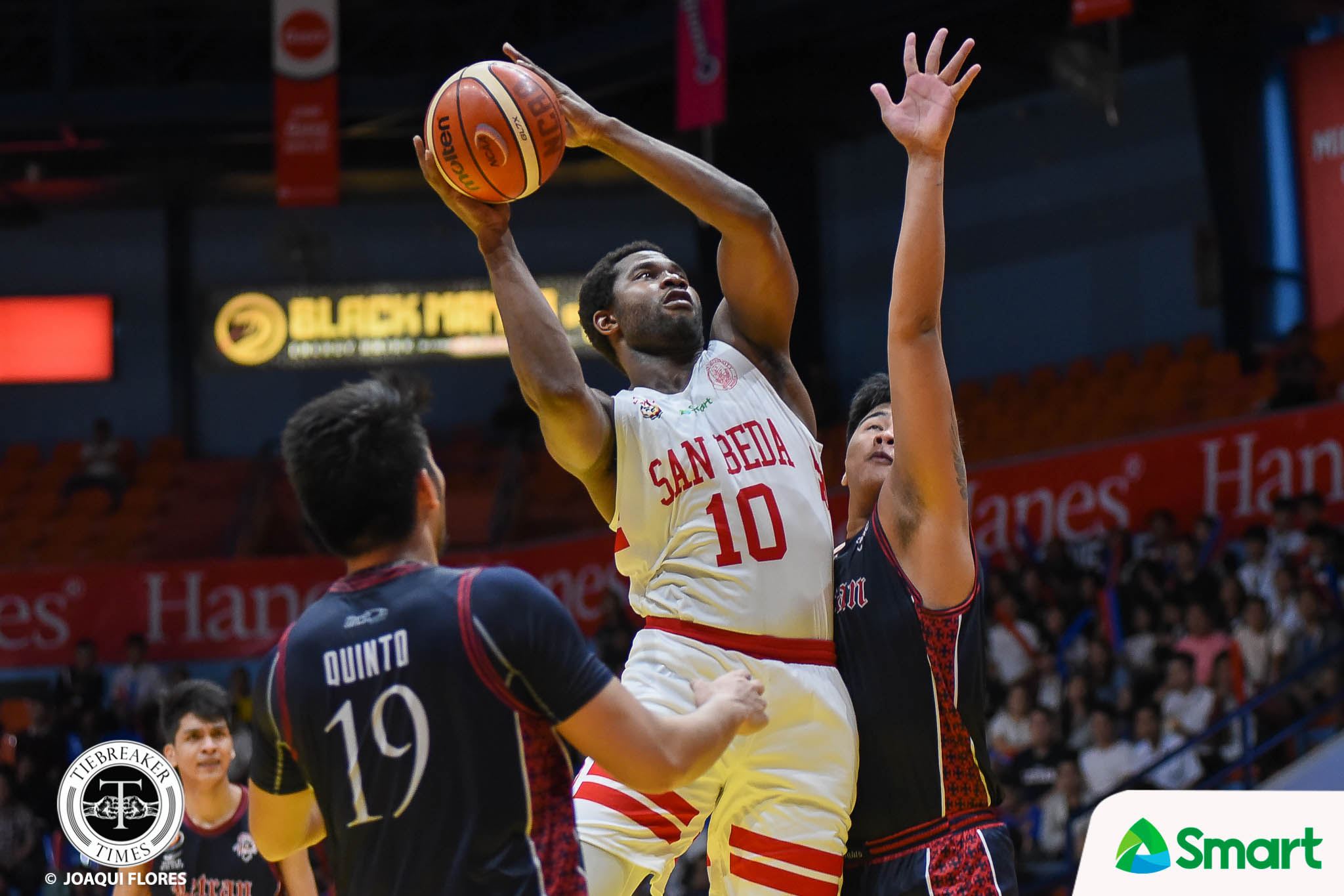 Tiebreaker Times Chooks-to-Go Player of the Week Donald Tankoua makes sure San Beda downs arch-rivals Basketball NCAA News SBC  San Beda Seniors Basketball NCAA Season 94 Seniors Basketball NCAA Season 94 NCAA Player of the Week Donald Tankoua