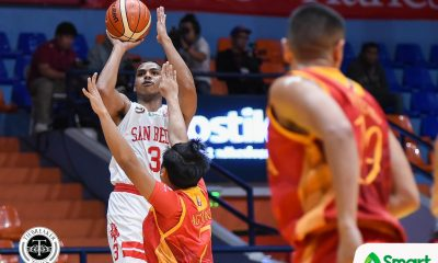 Tiebreaker Times James Canlas delivers as San Beda overwhelms San Sebastian Basketball NCAA News SBC SSC-R  San Sebastian Seniors Basketball San Beda Seniors Basketball NCAA Season 94 Seniors Basketball NCAA Season 94 Michael Calisaan Javee Mocon James Canlas Egay Macaraya Donald Tankoua Boyet Fernandez Allyn Bulanadi