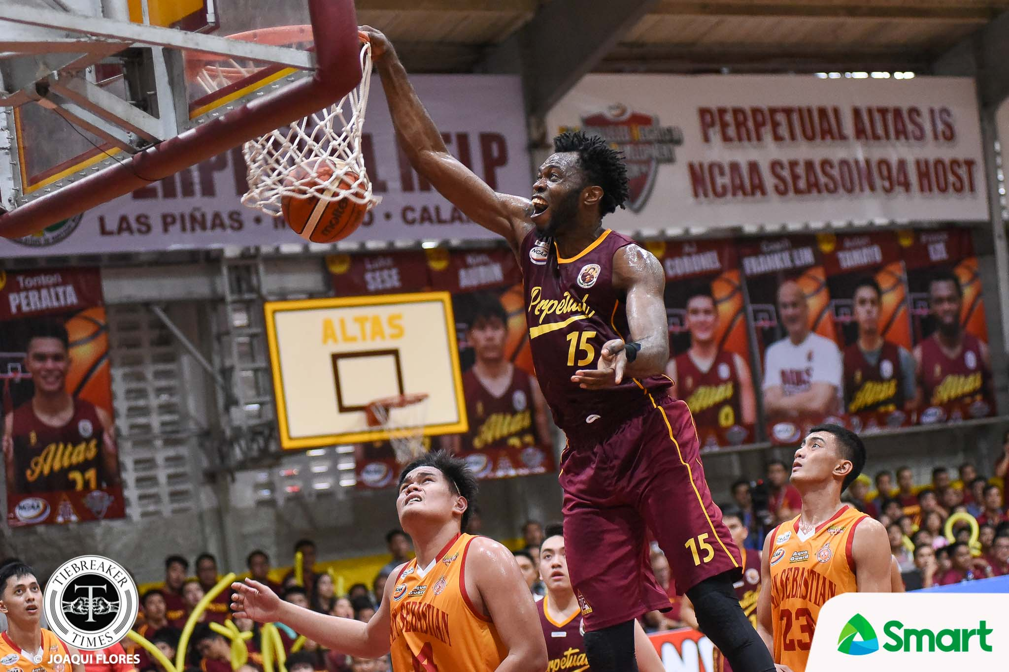 Tiebreaker Times Prince Eze did not want to lose for Perpetual Basketball NCAA News UPHSD  Prince Eze Perpetual Seniors Basketball NCAA Season 94 Seniors Basketball NCAA Season 94 Frankie Lim