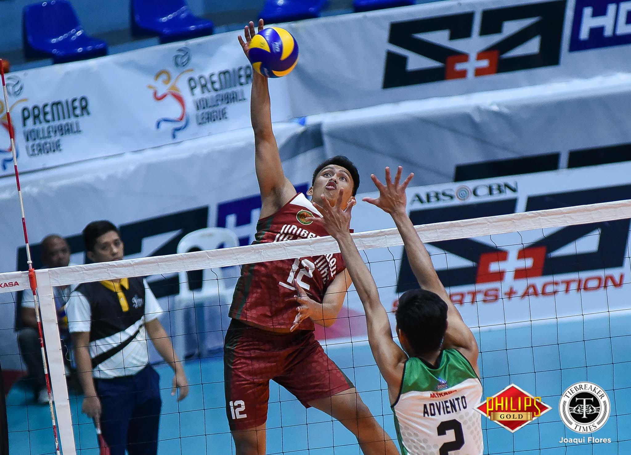 Tiebreaker Times UP douses Saint Benilde for back-to-back wins CSB News PVL UP Volleyball  Vince Abrot UP Men's Volleyball Miguel Nasol Mac Millete Jerry San Pedro Jerahmeel Baldelovar Hans Chuacuco Benilde Men's Volleyball Arnold Laniog 2018 PVL Season 2018 PVL Men's Collegiate Conference