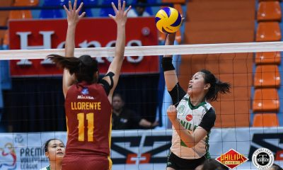 Tiebreaker Times Saint Benilde stays in semis picture, drubs Perpetual CSB News PVL UPHSD Volleyball  Saint Benilde Women's Volleyball Perpetual Women's Volleyball Michael Carino Melanie Torres Marites Pablo Klarissa Abriam Jewel Lai Jerry Yee Dana Persa Cindy Imbo 2018 PVL Women's Collegiate Conference 2018 PVL Season