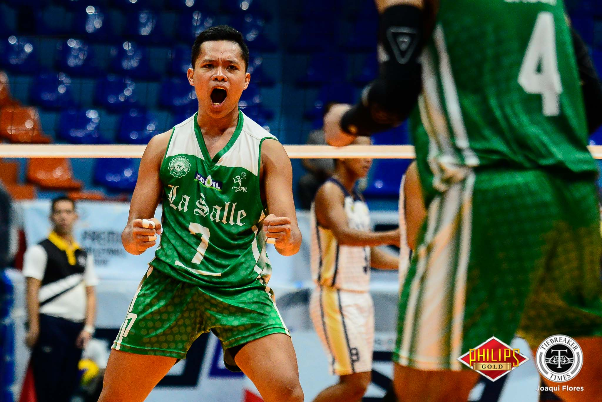 Tiebreaker Times La Salle shoots down NU with four-set upset DLSU News NU PVL Volleyball  Wayne Marco NU Men's Volleyball Norman Miguel Geriant Bacon DLSU Men's Volleyball Dante Alinsunurin Cris Dumago Bryan Bagunas 2018 PVL Season 2018 PVL Men's Collegiate Conference