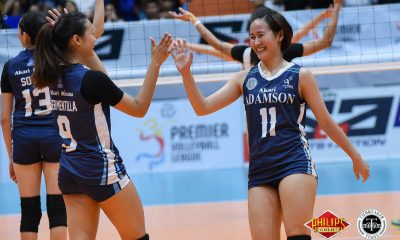 Tiebreaker Times Converted setter MJ Igao finding bearings AdU News PVL Volleyball  MJ Igao Airess Padda Adamson Women's Volleyball 2018 PVL Women's Collegiate Conference 2018 PVL Season