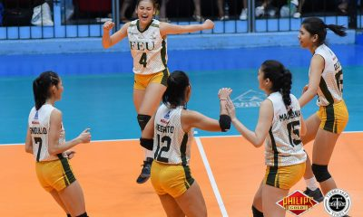 Tiebreaker Times FEU continues mastery over wasteful UP, books semis spot FEU News PVL UP Volleyball  UP Women's Volleyball Marist Layug Kyle Negrito Jeanette Villareal Isa Molde Heather Guino-o Godfrey Okumu George Pascua FEU Women's Volleyball Buding Duremdes 2018 PVL Women's Collegiate Conference 2018 PVL Season