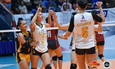 Tiebreaker Times Ysa Jimenez steps up for fellow rookie Eya Laure News PVL UST Volleyball  Ysabel Jimenez UST Women's Volleyball 2018 PVL Women's Collegiate Conference 2018 PVL Season