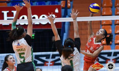 Tiebreaker Times San Beda stays alive in semis chase, drops Perpetual News PVL SBC UPHSD Volleyball  San Beda Women's Volleyball Perpetual Women's Volleyball Nieza Viray Nemesio Gavino Michael Carino Lynne Matias Hershey Llorente Daryl Racraquin Cindy Imbo Cesca Racraquin 2018 PVL Women's Collegiate Conference 2018 PVL Season
