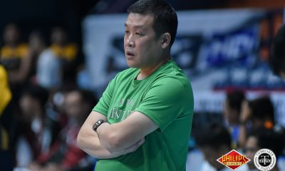 Tiebreaker Times After facing former team, Jerry Yee reiterates focus on Saint Benilde CSB News PVL UP Volleyball  Saint Benilde Women's Volleyball Jerry Yee 2018 PVL Women's Collegiate Conference 2018 PVL Season