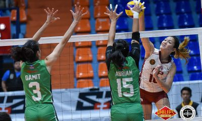 Tiebreaker Times UP nips Saint Benilde in three, narrow sets CSB News PVL UP Volleyball  UP Women's Volleyball Saint Benilde Women's Volleyball Rem Altomea Nicole Magsarile Klarisa Abriam Jewel Lai Jerry Yee Isa Molde Godfrey Okumu Arielle Estranero 2018 PVL Women's Collegiate Conference 2018 PVL Season