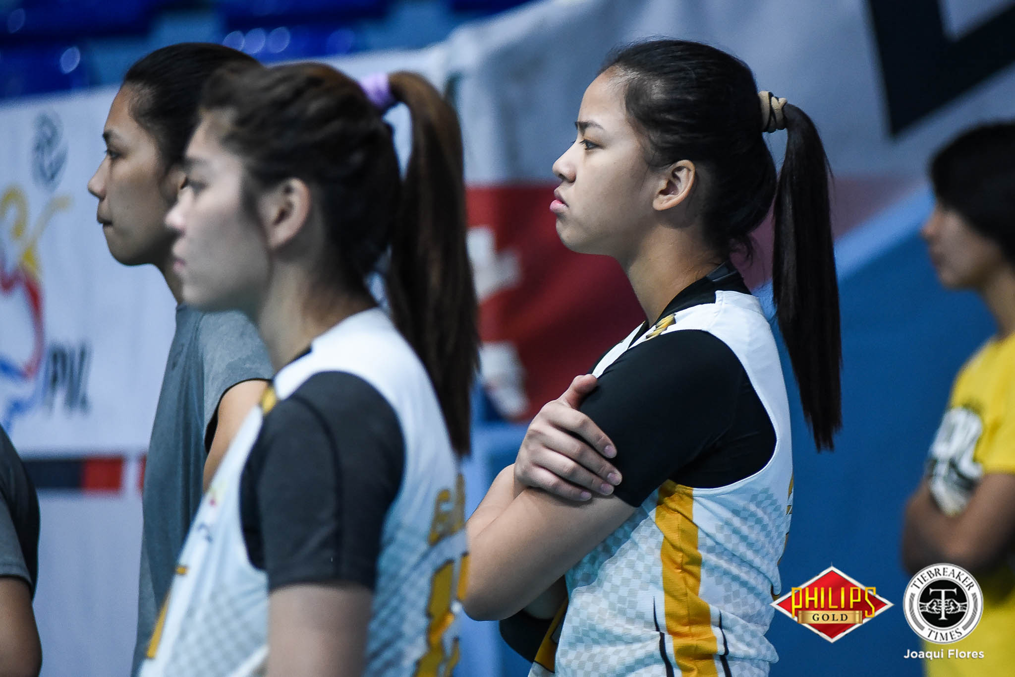 Tiebreaker Times Eya Laure possibly out until semis due to injured shoulder News PVL UST Volleyball  UST Women's Volleyball Eya Laure 2018 PVL Women's Collegiate Conference 2018 PVL Season
