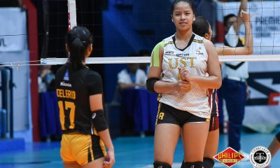 Tiebreaker Times Eya Laure brings scoring, relentlessness to UST News PVL UST Volleyball  UST Women's Volleyball Eya Laure 2018 PVL Women's Collegiate Conference 2018 PVL Season