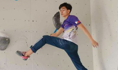 Tiebreaker Times Lone climber Gerald Verosil looks to scale great heights Climbing News  Sports Climbing Association of the Philippines Jason Sauco Gerald Verosil 2018 Asian Games - Climbing 2018 Asian Games
