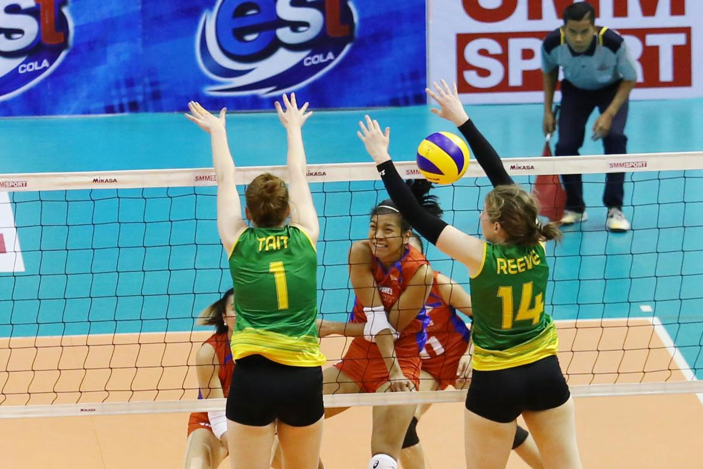 Tiebreaker Times Philippines falls to Australia to start AVC campaign News Volleyball  Shaq delos Santos Jia Morado Denden Lazaro Australia (Volleyball) Alyssa Valdez 2018 AVC Cup for Women