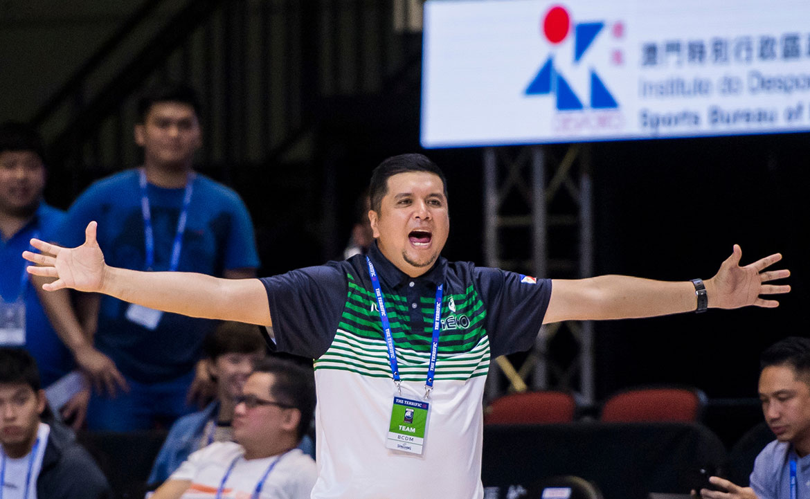 Tiebreaker Times Ariel Vanguardia grateful for being picked to coach iECO Basketball News  IECO Green Warriors Dioceldo Sy Ariel Vanguardia 2018 Terrific 12 2018 Asia League