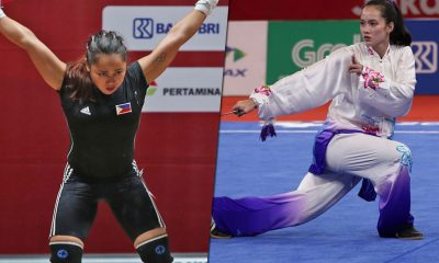 Tiebreaker Times Saint Benilde hails Hidilyn Diaz, Agatha Wong CSB News Weightlifting Wushu  Hidilyn Diaz Agatha Wong 2018 Asian Games-Wushu 2018 Asian Games-Weightlifting 2018 Asian Games