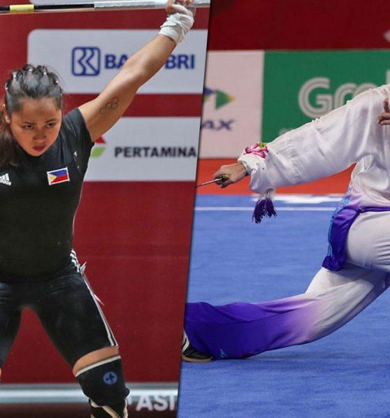 Tiebreaker Times Saint Benilde hails Hidilyn Diaz, Agatha Wong CSB News Weightlifting Wushu  Hidilyn Diaz Agatha Wong 2018 Asian Games-Wushu 2018 Asian Games-Weightlifting 2018 Asian Games