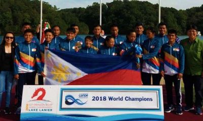 Tiebreaker Times Dragon Boat Team captures two gold medals in World Championships Canoeing News  Philippine Dragon Boat Team Philippine Canoe Kayak Dragon Boat Federation Patricia Bustamante Maribeth Caranto l Len Escollante Jonne Go 2018 ICF World Dragon Boat Championships