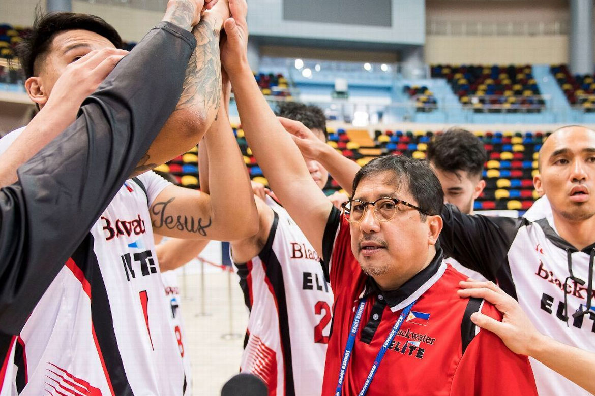 Tiebreaker Times Bong Ramos resigns, Aris Dimaunahan to serve as interim Blackwater head coach Basketball News PBA  PBA Season 44 Bong Ramos Blackwater Elite Aris Dimaunahan 2019 PBA Philippine Cup