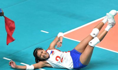 Tiebreaker Times Indonesia sends Philippines packing to 8th place News Volleyball  Wilda Siti Nurfadhilah Sugandi Shaq delos Santos Kim Fajardo Indonesia (Volleyball) Aprilia Manganang Alyssa Valdez 2018 Asian Games-Volleyball 2018 Asian Games